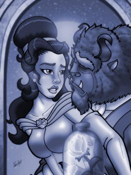 Beauty and the Beast by anubis2kx
