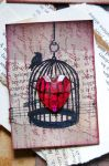 Bomb in a Birdcage ATC by lonesomeaesthetic