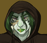 Hooded Half-orc by cyberill