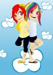 COMMISION: Rainbow Dash and Thunder Dash by germanyA