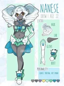 Nanese ref sheet by Kimmymanga