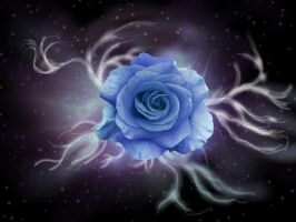 The Rose . . . Blue by FireOpal14