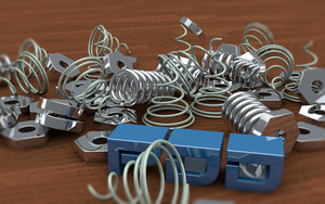 Spring-Coils-Bolts 3D Model by PlaviDemon