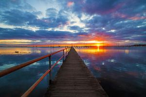 Griffiths Gully Jetty Sunrise Revisited by DanielleMiner