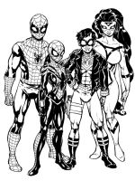 Spiderman family by Dogsupreme