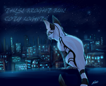 These Bright Blue City Lights (Birthday gift) by MidnightsBloom