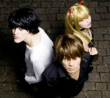 Death Note - L, Raito and Misa by JuTsukinoOfficial