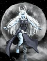 Elune, Goddess of the Moon by bchart