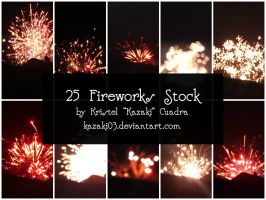 25 Fireworks Stock by kazaki03