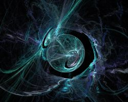 Turquoise Plasma Sphere by x86op