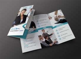 Trifold brochure (audit company) by Lymos