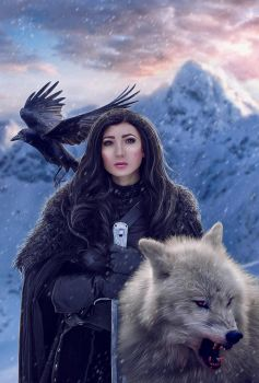 Jon Snow (female version) by Dea-Vesta