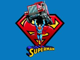 Superman - Mightier than a Mack Truck by Superman8193