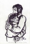 Sketch commish - Damon and Cathal by rachelillustrates