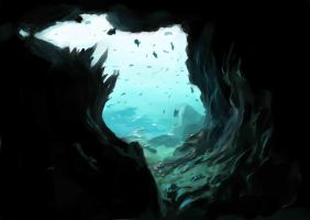 Underwater cave by Sokkhue