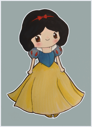 Blanche-Neige et les 7 Nains - Page 3 Disney_QT_3_14___Snow_White_by_mollay