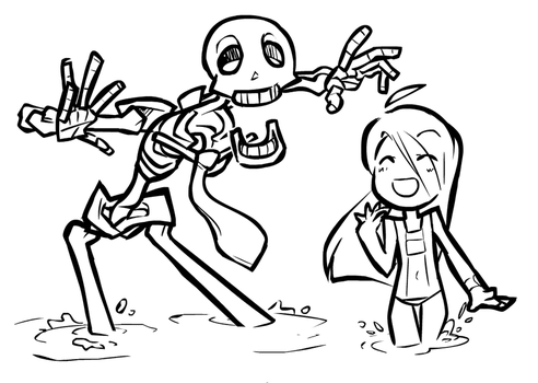 Skell and Chell by NAN0jam