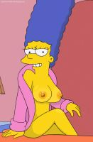 The Simpsons - Marge in a robe by 2ndChainMale