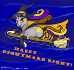 Starry Witchy Night by SabreKitty
