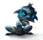 Day 493. Sketch Dailies Challenge - Gollum by Cryptid-Creations