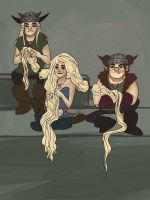 how many vikings does it take to braid hair by SkaterSkittle