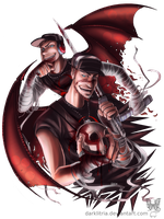 TF2: CBScout twins by DarkLitria