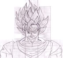 Goku SSJ2 uncoloured version by mariobros64