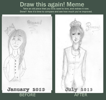 Before And After Meme - Princess by tromfeelsker