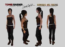Lara Croft - Clean Concept Art Outfit Download by elyhumanoid