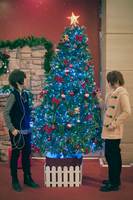 Spain and Romano with Christmas Tree by PopoNyan