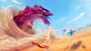 Sand Dragon Run by NightHead