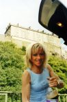 Janet With Edinburgh Castle In The Background by MAGNYFI