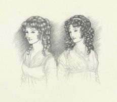Elinor and Marianne Sketch by Himmapaan