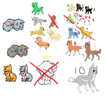 CHEAP ADOPTS!!!(old ones that i haven't sold yet) by starlightzs