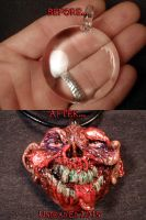 Zomboy Pendant by Undead Ed Glows in the Dark 3 by Undead-Art