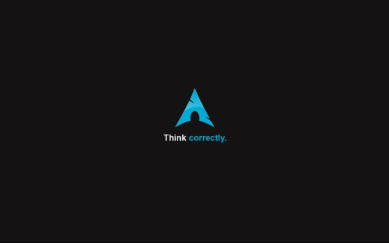 Think correctly - Arch Linux by cyric80