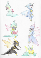 Mini Fairy Doodles by MonsterBrush