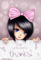 100 watchers [Thank you!] by Iseanna