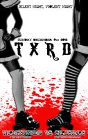 TXRD Holiday Bout Poster by kidswithscissors