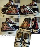 Rosalie and Emmett on Converse by alcat2021