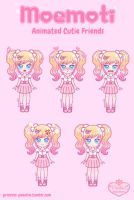Moemoti Commission - Pink Sweetie Girl by Princess-Peachie