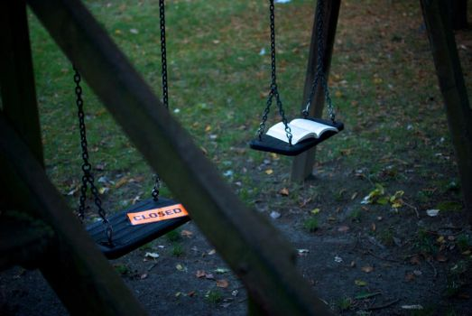 Abandoned swings by Eraser85