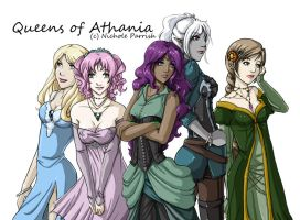 Queens of Athania -colored- by Tenanikki
