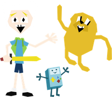 Finn, Jake, and BMO by DuctToast