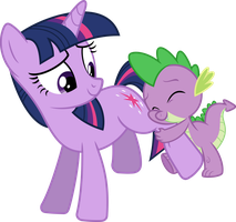 Twilight and Spike vector by PsychicWalnut