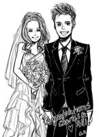 CTFxC Wedding Photo Drawing thing.... by DumplingzOwO