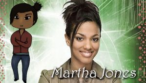 Martha Jones and Martha Chibi by chibiwho1645