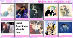 Top 10 Yaoi Pairings by YaoiFanFictioner07
