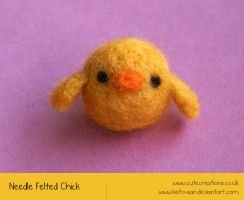 Needle Felted Chick by Keito-San