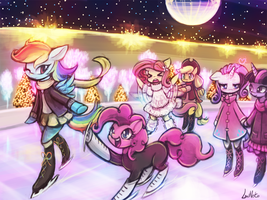 Ice Skating in the Summer by luminaura